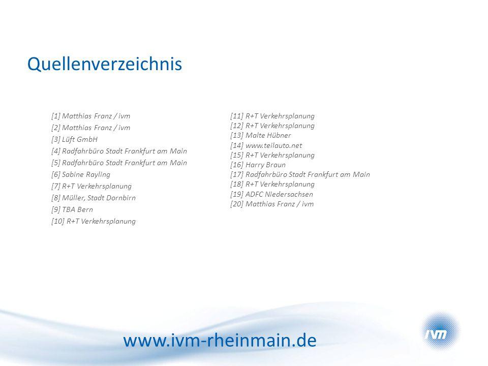 Quellenverzeichnis www.ivm-rheinmain.de [1] Matthias Franz / ivm